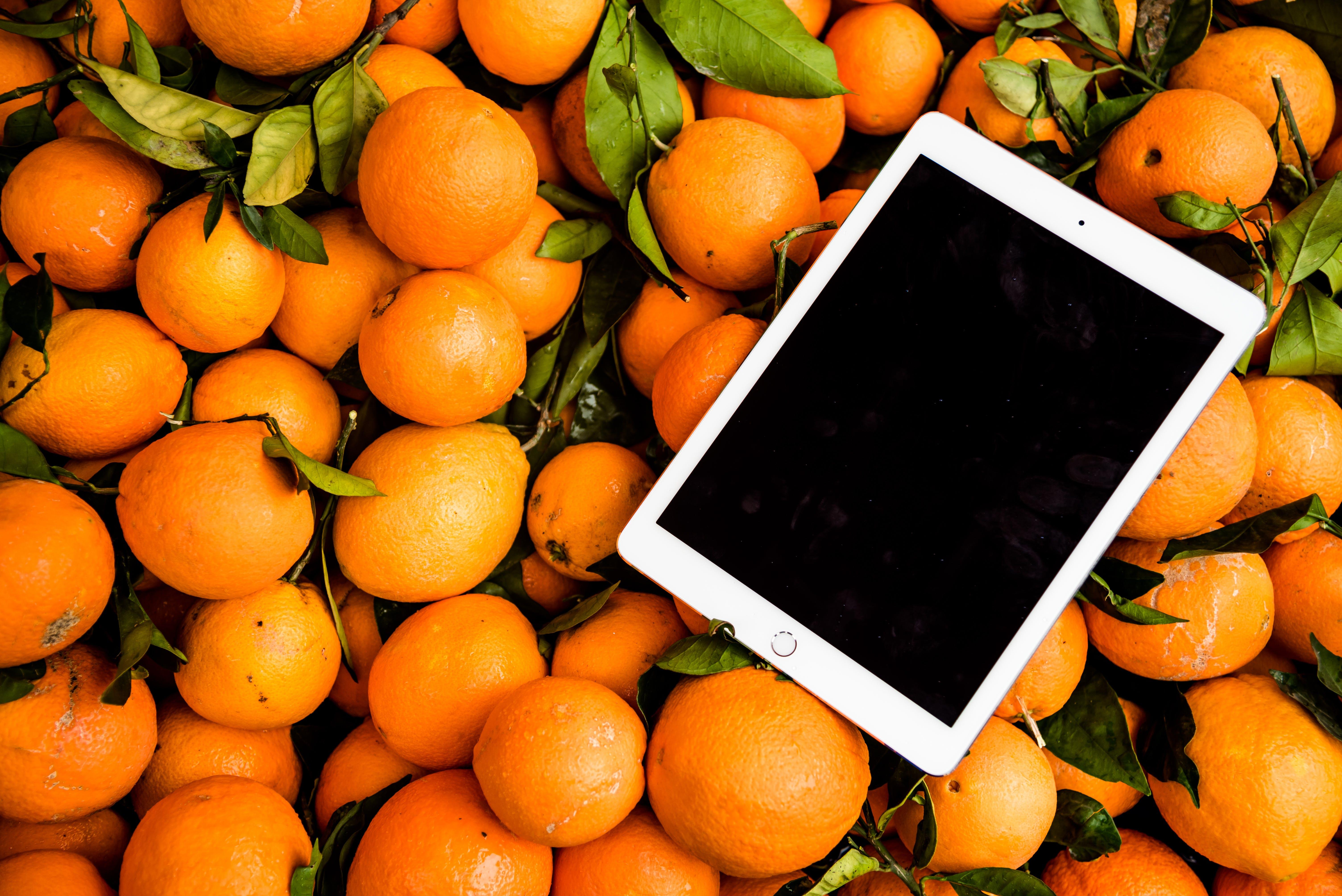 Photo of Ipad on Orange Fruits
