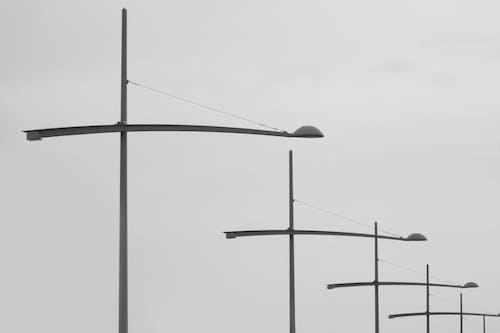 가로등, 강철, 낮, 야외에서의 무료 스톡 사진