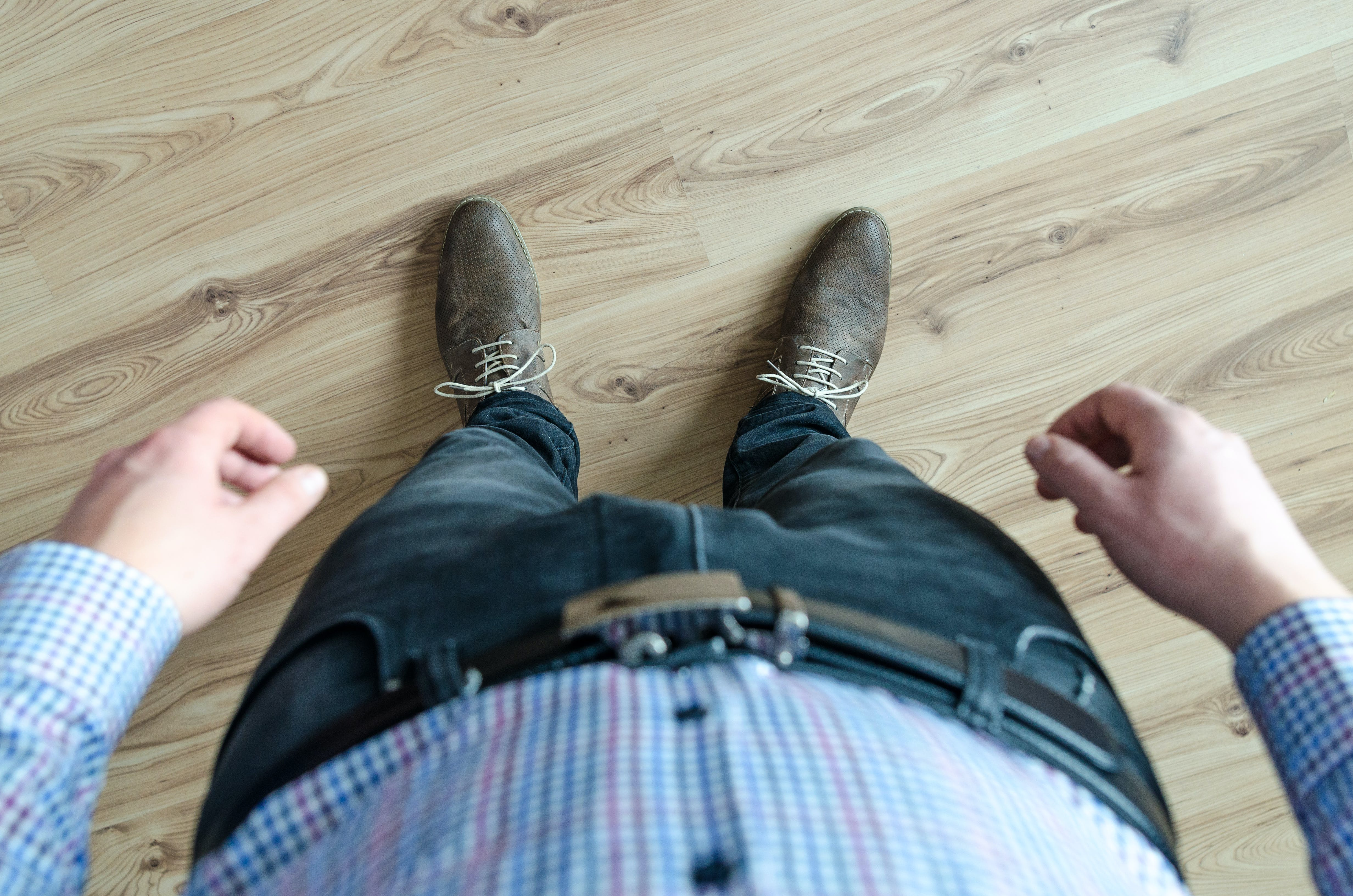 Person Wearing Black Jeans While Standing