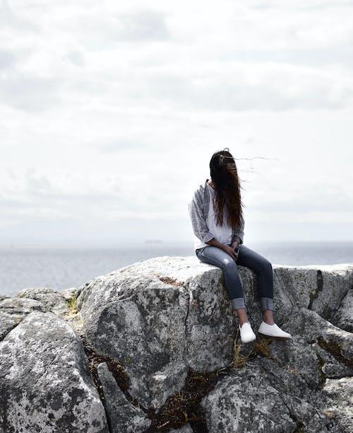 Základová fotografie zdarma na téma denní, kameny, krajina, moře