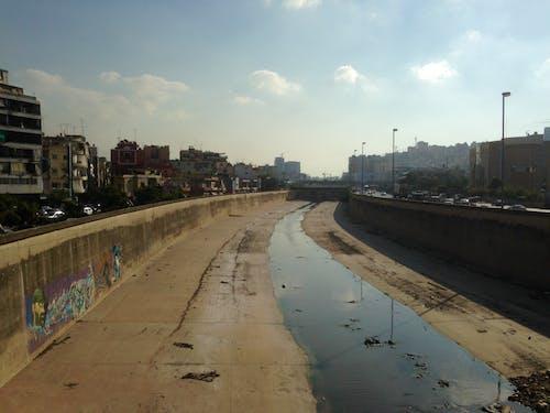 Kostnadsfri bild av beirut, flod, förorening