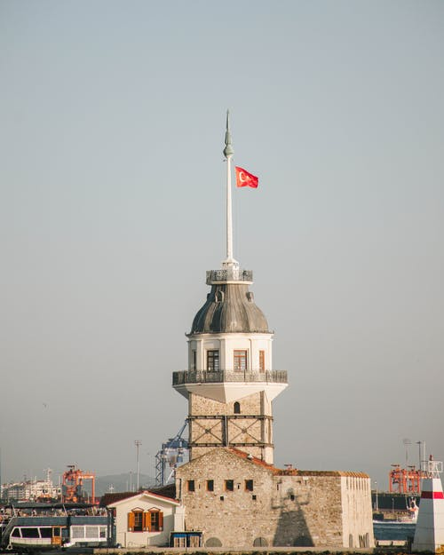 The Maiden Tower in an Islet in Istanbul Turkey