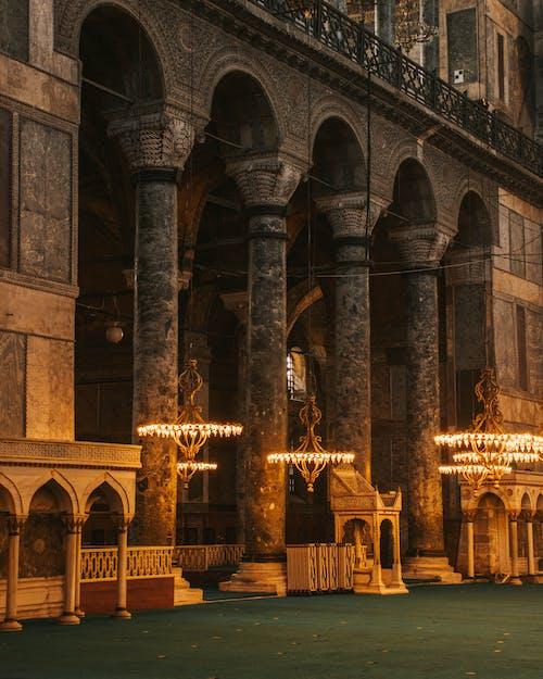 Interior Pillars and Columns of Hagia Sophia Mosque