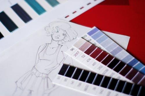 女裝時尚, 时尚设计, 時尚, 畫圖 的 免费素材照片