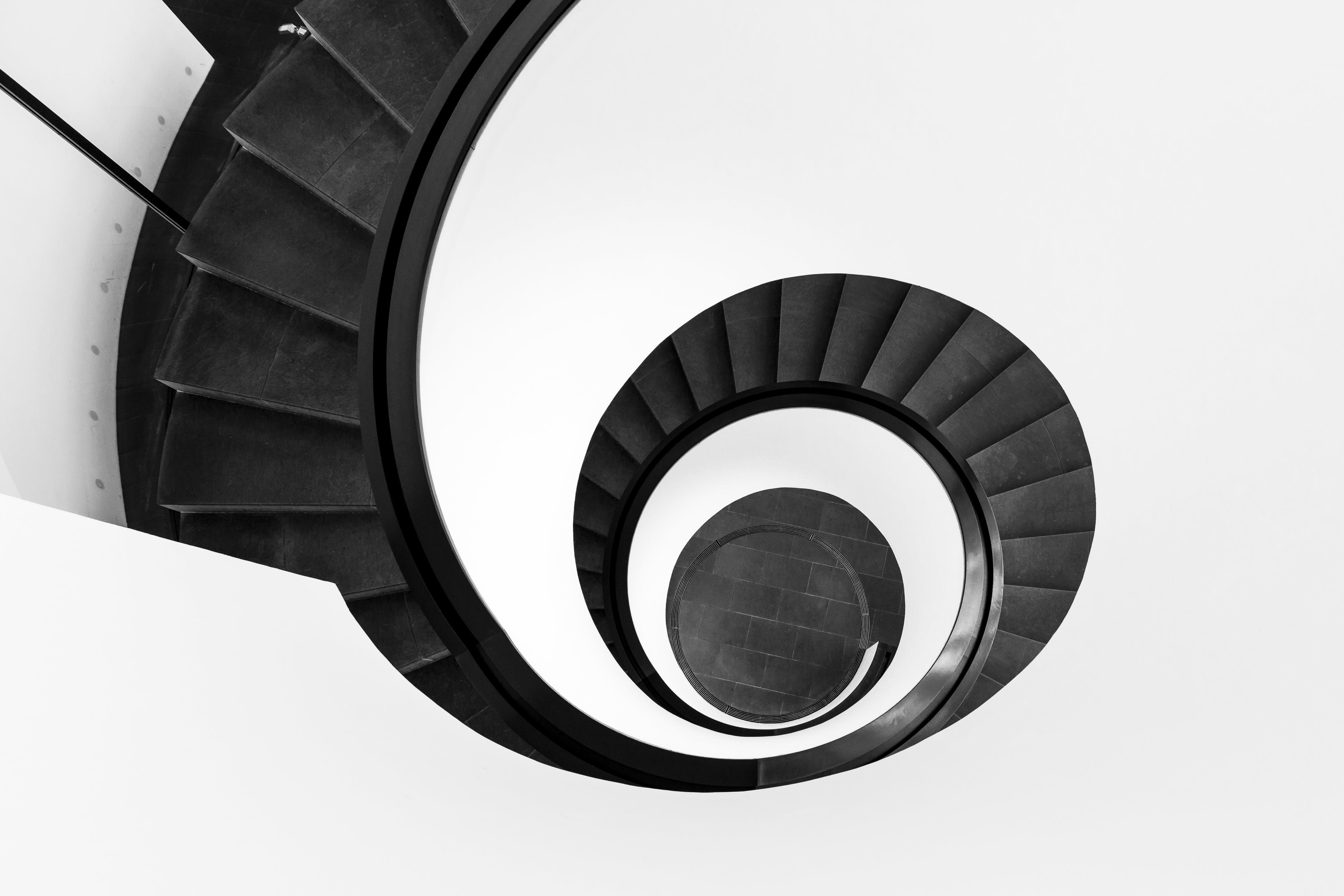 Black Spiral Staircase