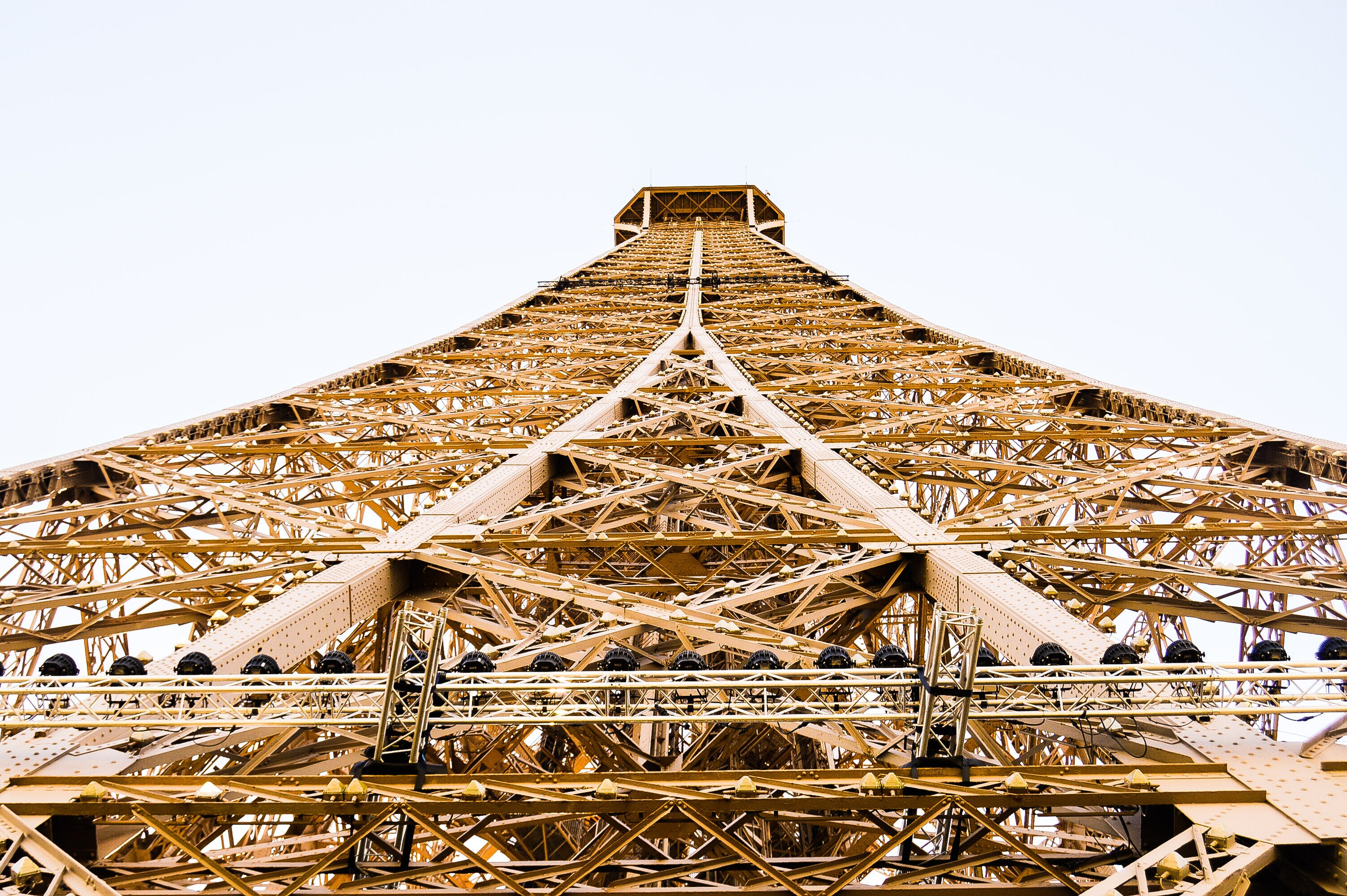 Eiffel Tower in Worm Hole View