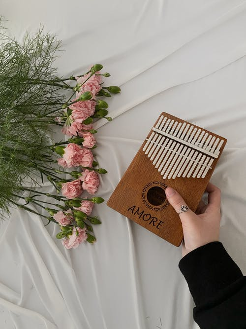 Close-Up Shot of a Person Holding a Kalimba