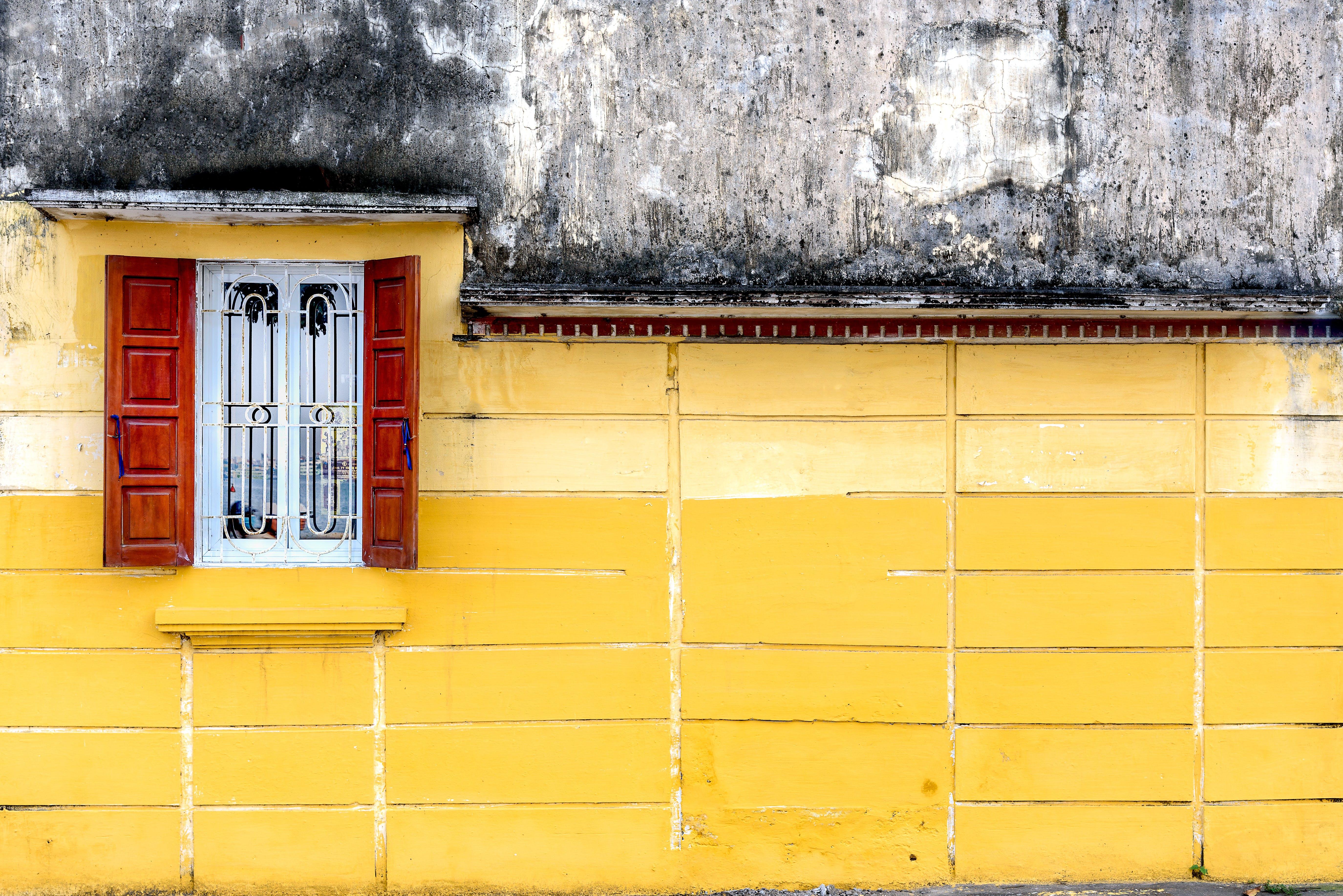 Open Brown Wooden Casement Window