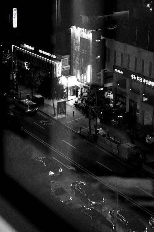 城市, 市中心, 時間, 晚上 的 免費圖庫相片