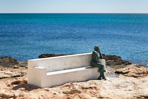 Ảnh lưu trữ miễn phí về biển, bức tượng, chân trời, cục đá