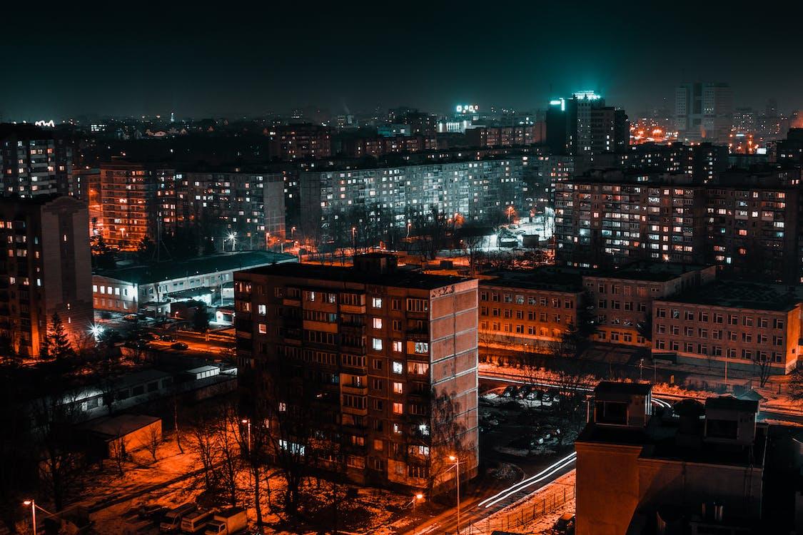 城市, 城市的燈光, 天際線