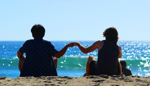 Free stock photo of beach, friend, friends, friendship