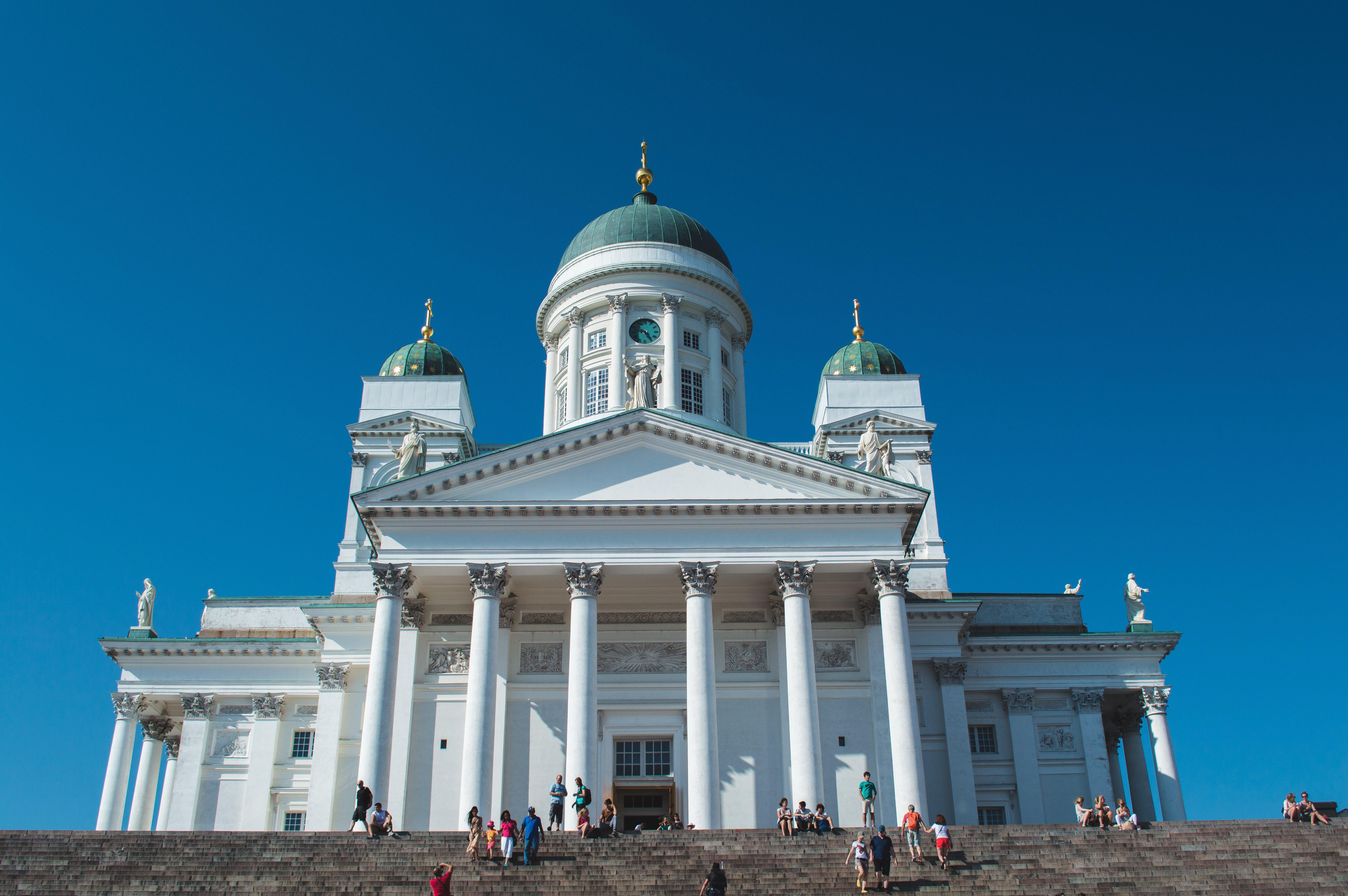 Бесплатное стоковое фото с архитектура, башни, белый, голубое небо