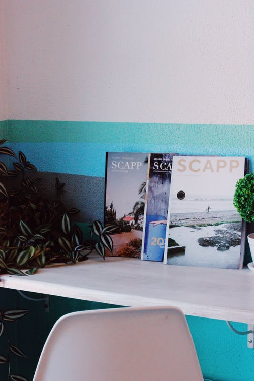 Scapp Magazine on Table