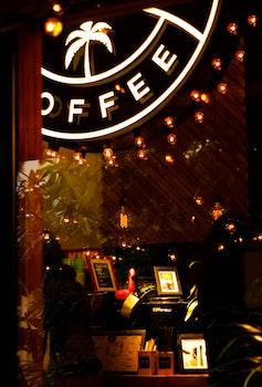 Free stock photo of lights, bar, glass, café