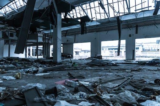 Damaged Building Interior
