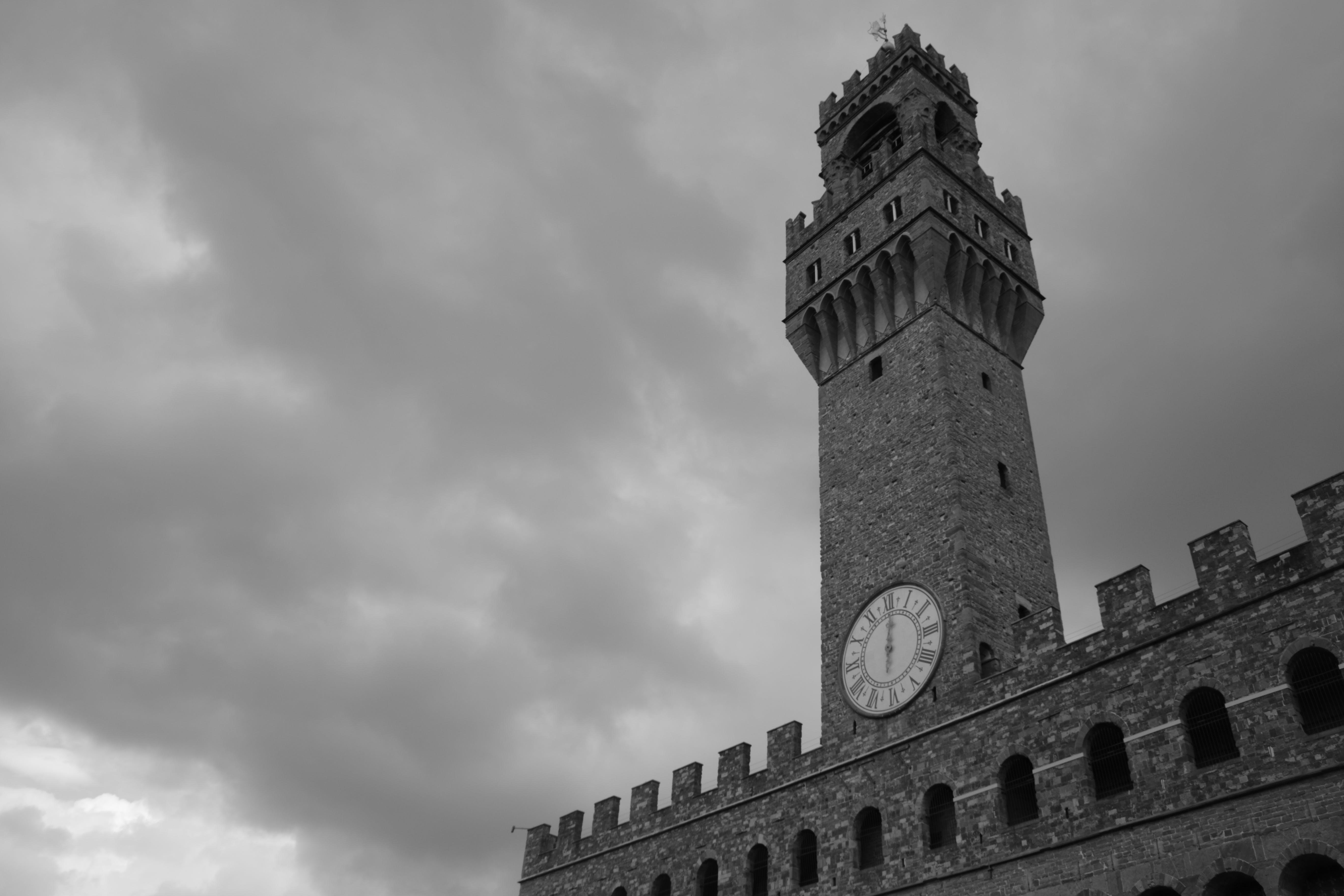Free stock photo of black-and-white, florence, palazzo vecchio