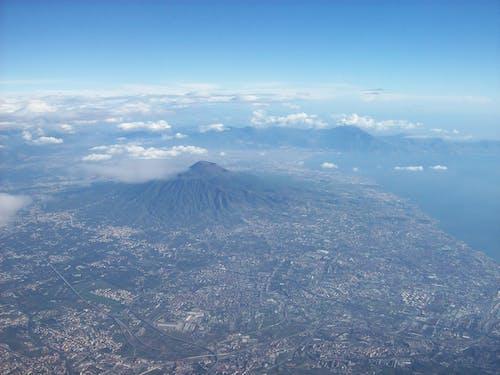 Free stock photo of aerial photo, Naples, Vesuvio