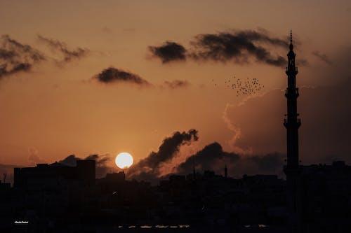 Gratis stockfoto met zonsondergang jordan - amman