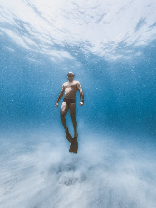 A Diver in the Ocean