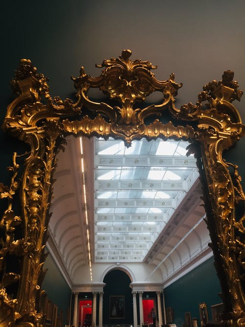 Free stock photo of antique mirror, mirror, mirror with a gold frame
