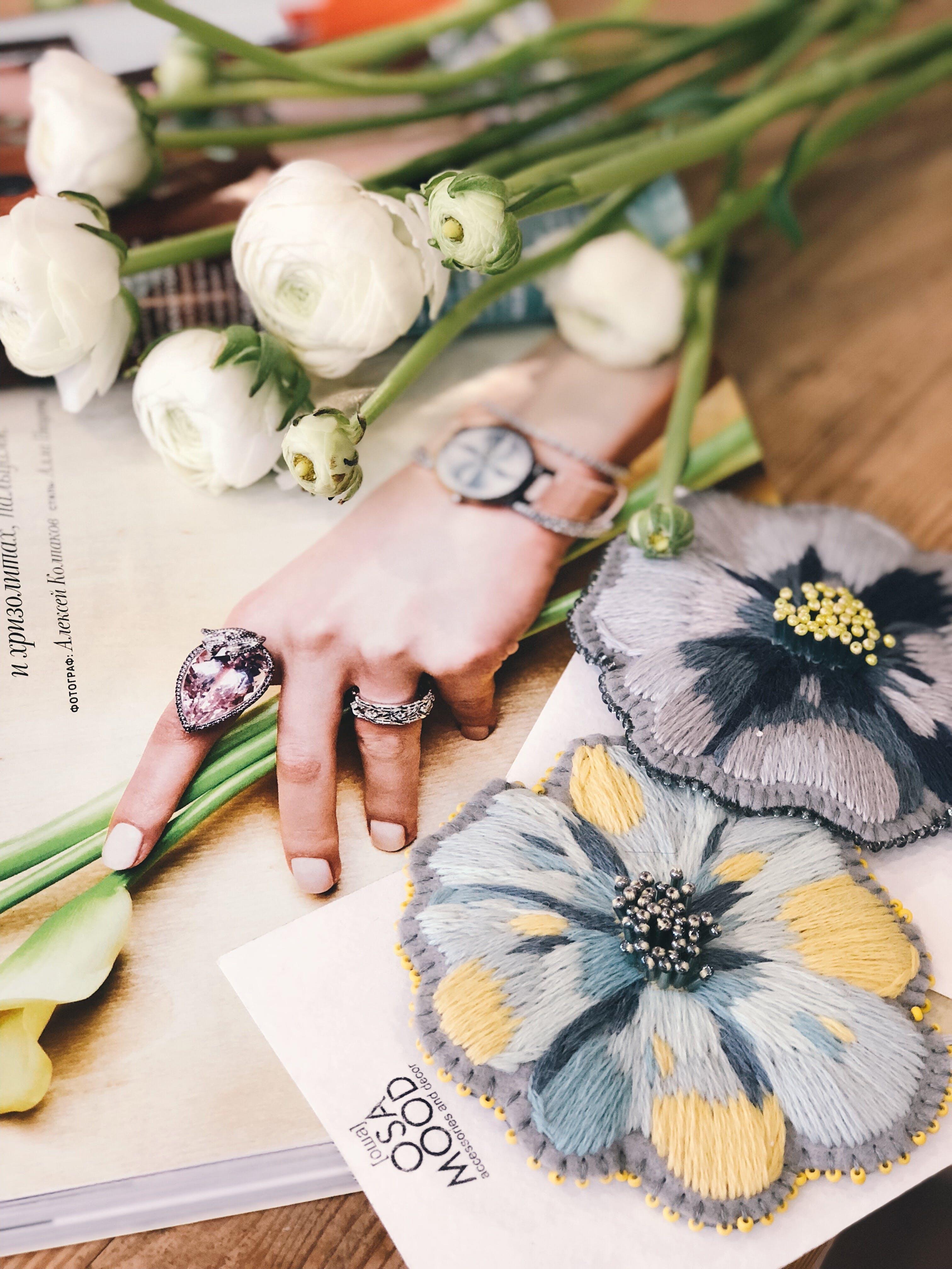 White Flowers on Catalog
