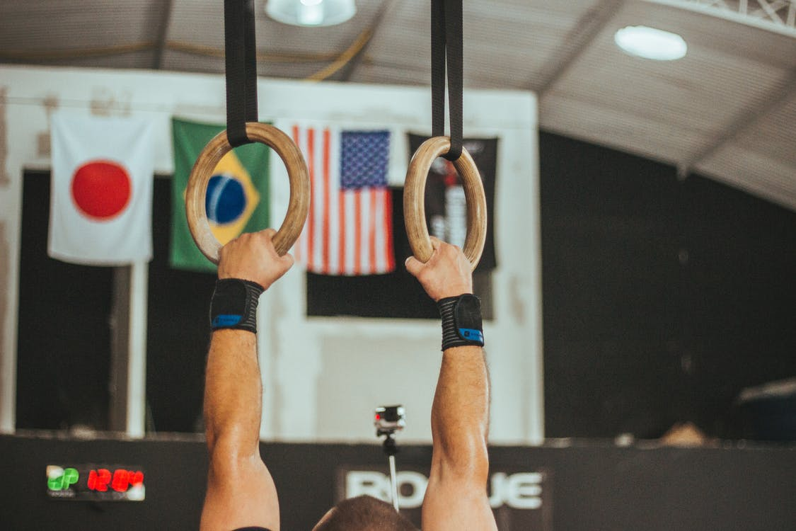Gymnast Near Assorted Country Flags