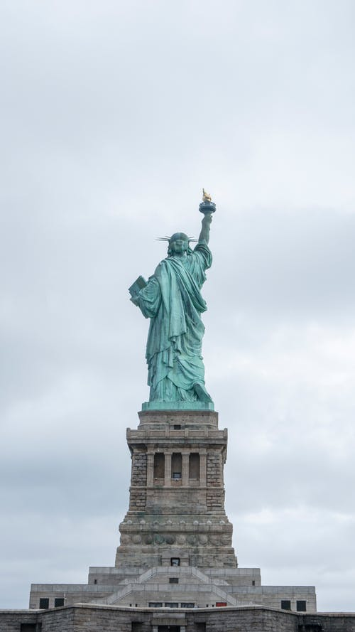 Statue of Liberty Under the White Sky