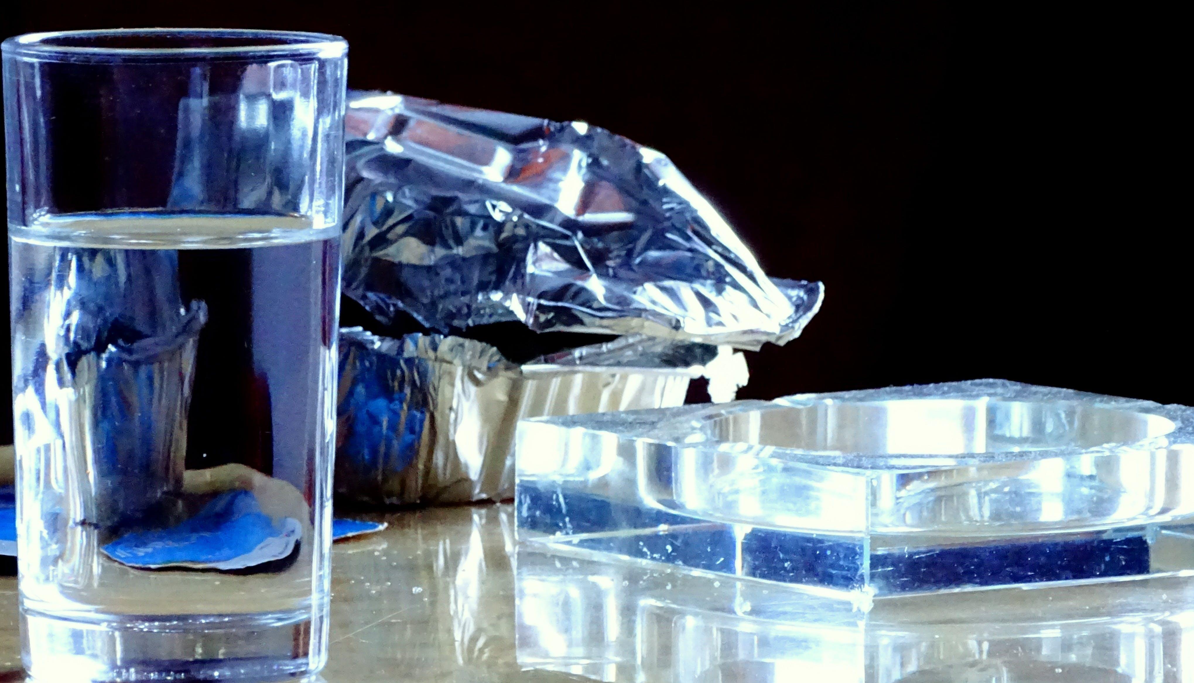 Free stock photo of ashtray, glass, reflection, still life