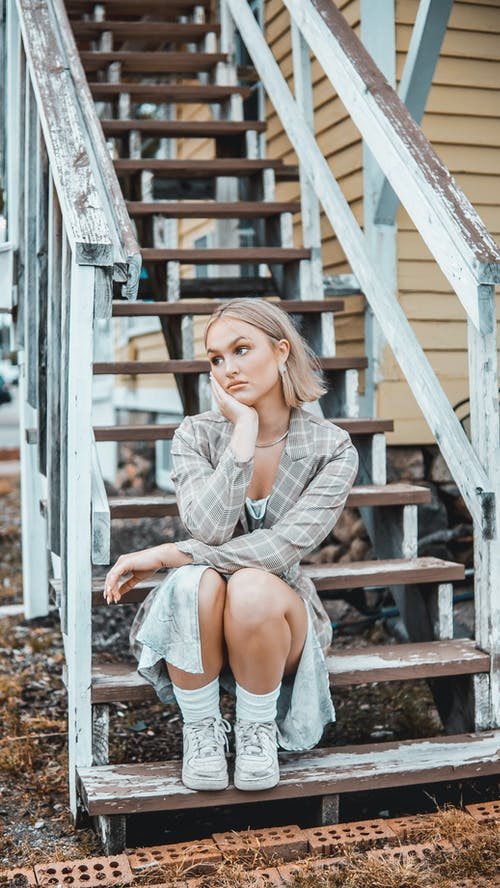 Free stock photo of blond short hair, contemplation, day