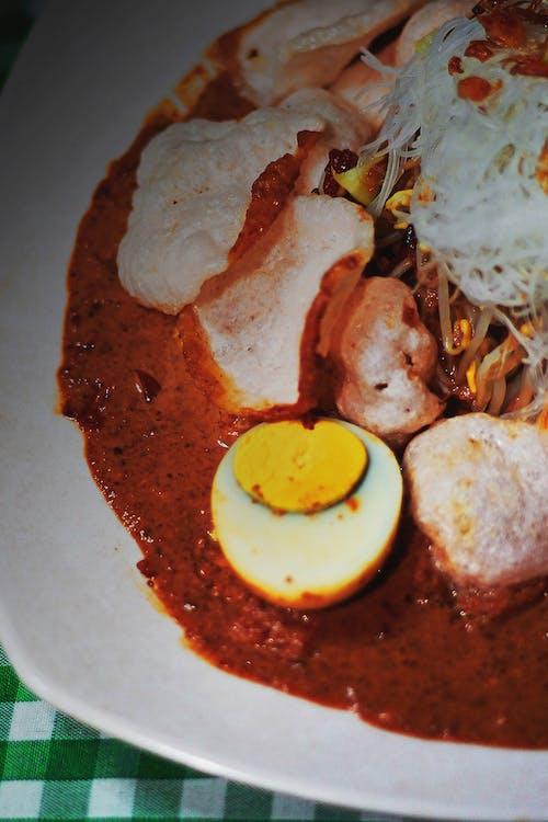 Free stock photo of dish, egg, ketoprak jakarta