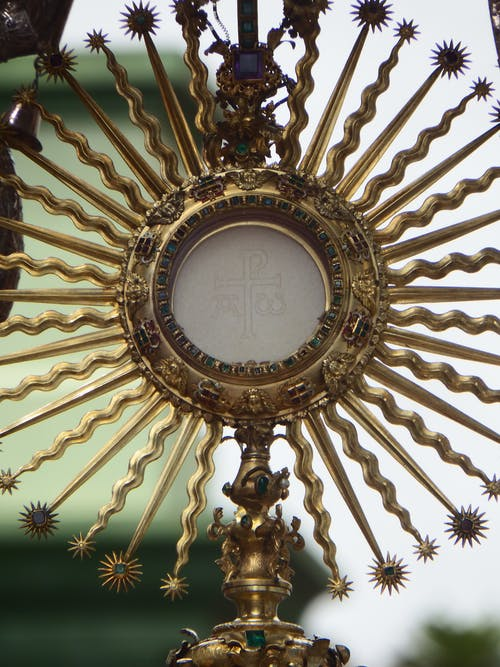 Free stock photo of eucharist, host, monstrance