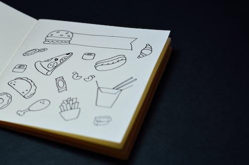 Безкоштовне стокове фото на тему «блокнот, бургер, гроші, декоративний»