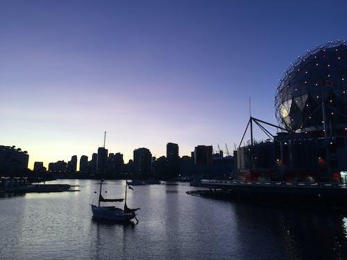 Free stock photo of boat, condo, evening, evening sky
