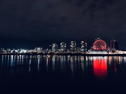 Free stock photo of night, night life, Red Building