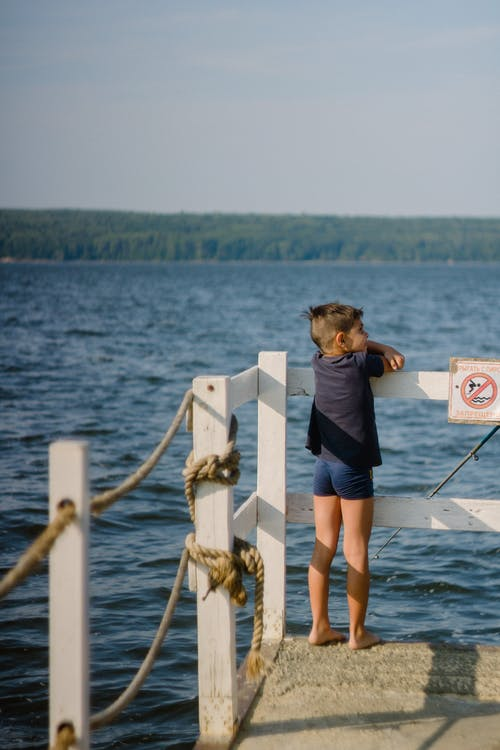 A Boy on the Docking Area