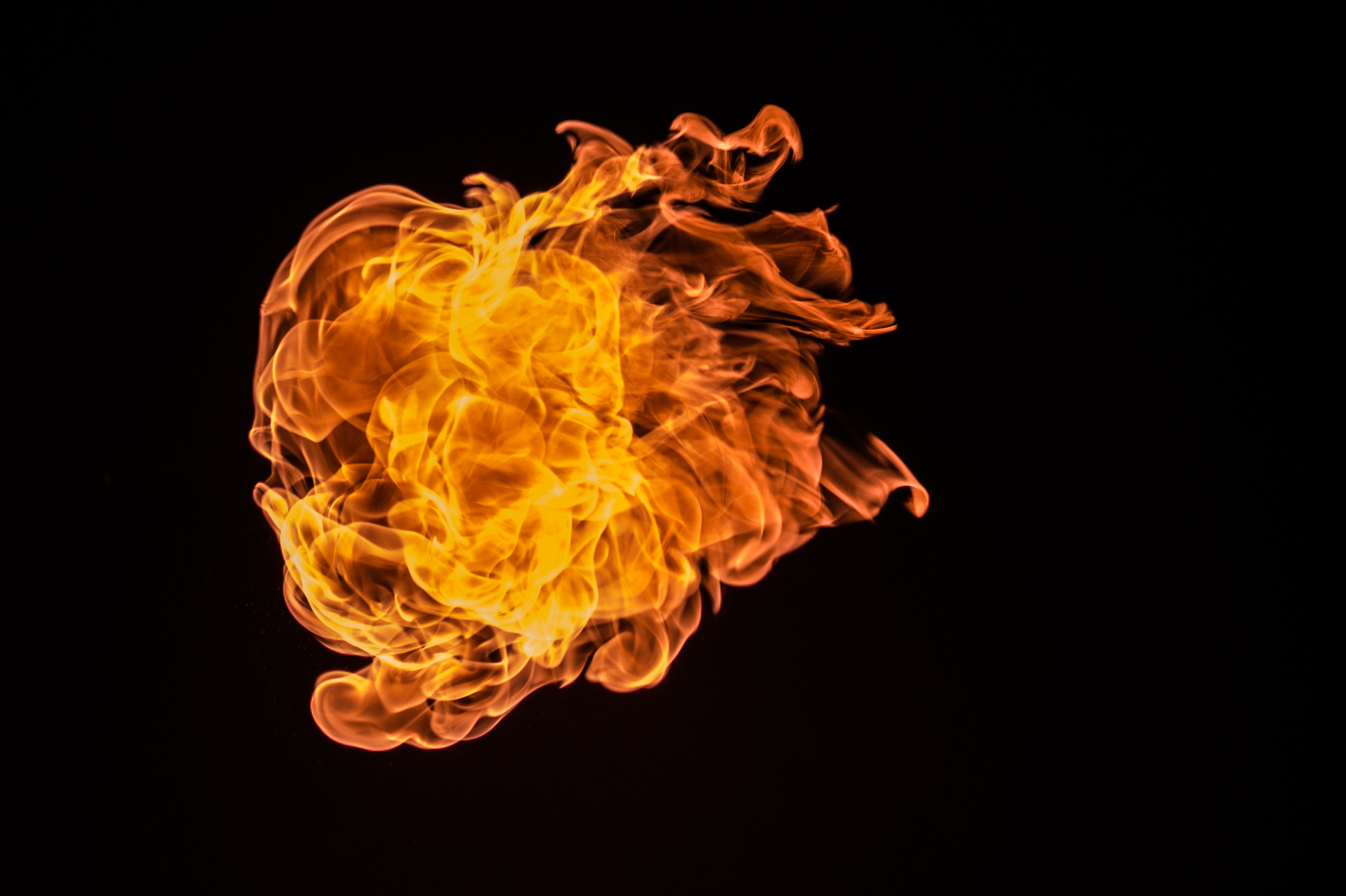 Red Fire With Black Background · Free Stock Photo