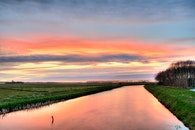 dawn, nature, sunset