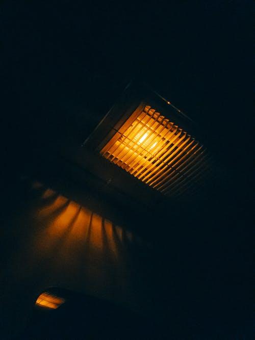 Free stock photo of lamp, light glare