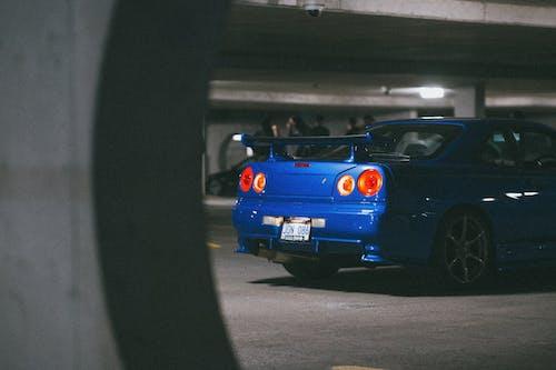 A Blue Nissan Skyline GT-R