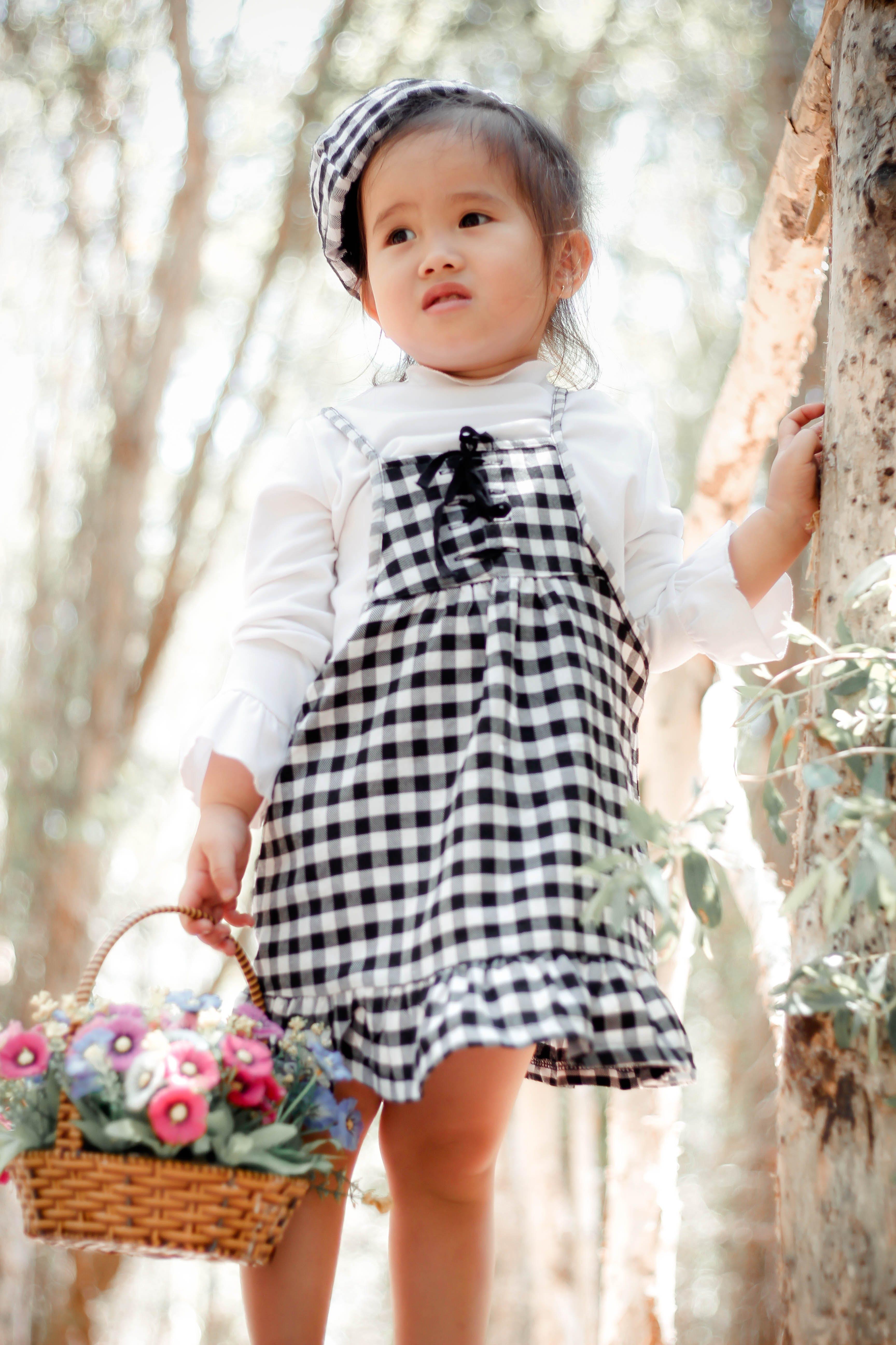 Kostenloses Stock Foto zu baby, blumen, fashion, hübsch