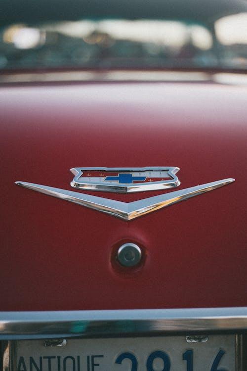 Close-Up Photo of Chevrolet Bel Air Emblem