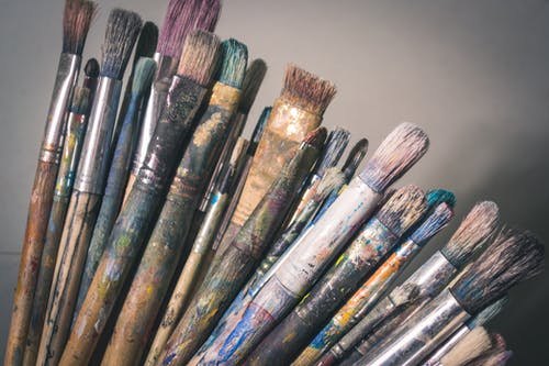 Základová fotografie zdarma na téma barvy, jasný, kartáčky, malířský štětec