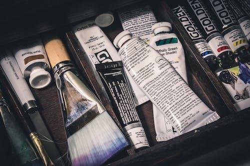 Бесплатное стоковое фото с кисти, кисточки, краска, трубы