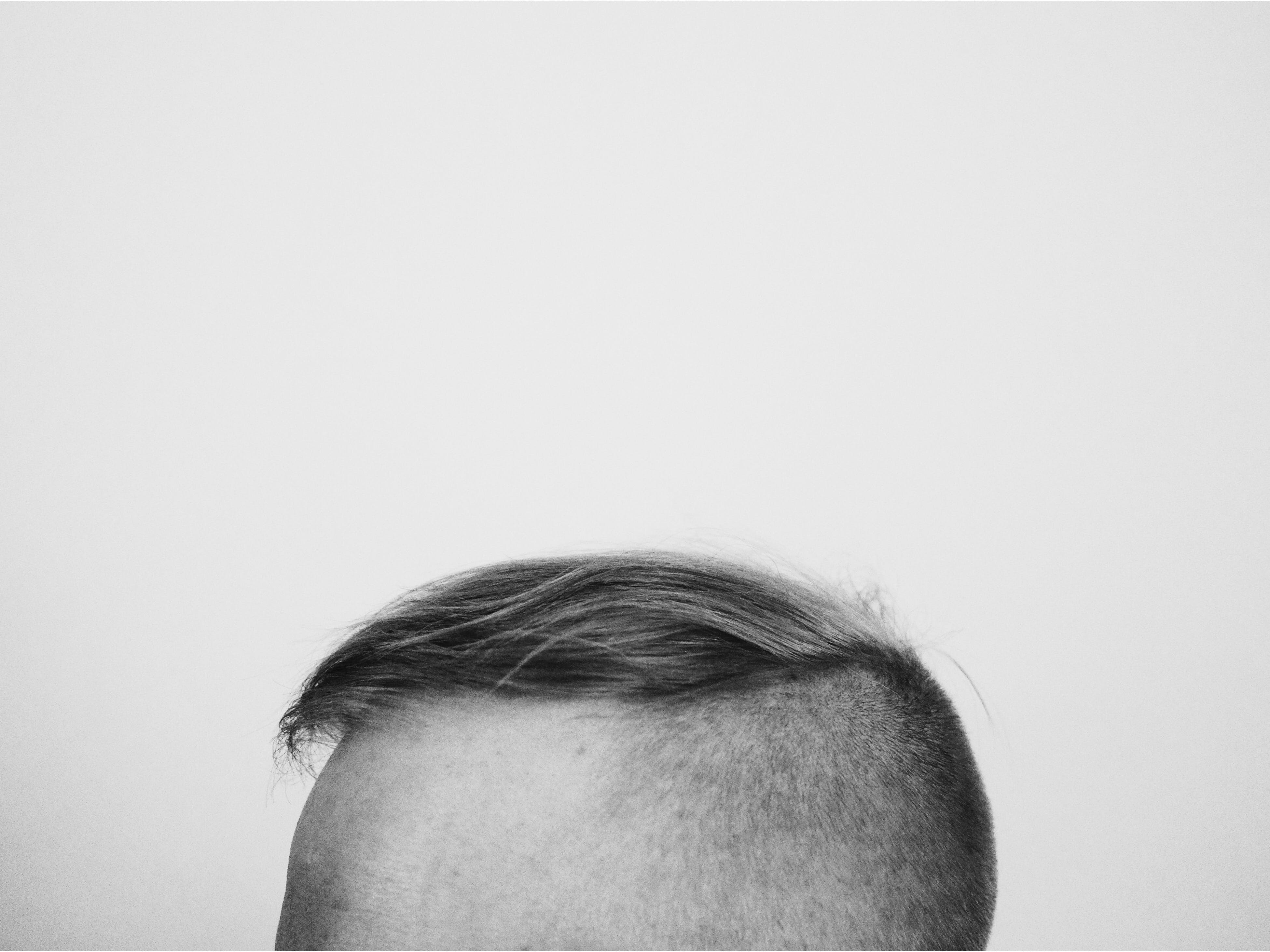 Free stock photo of head, hair, background, b&w