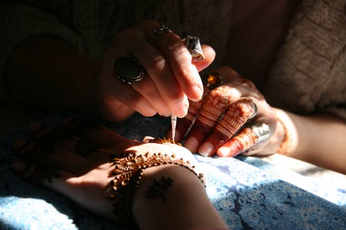 Free stock photo of henna