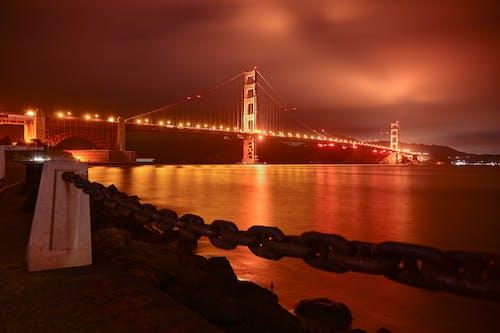Ingyenes stockfotó éjszaka, fény, Golden Gate híd témában