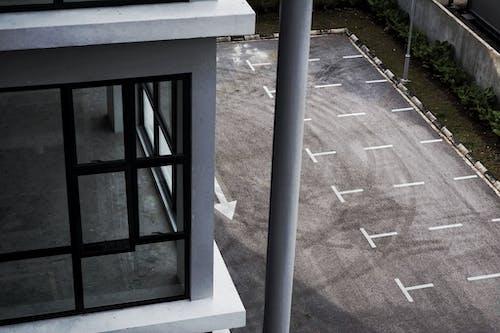 Gray Concrete Parking Space