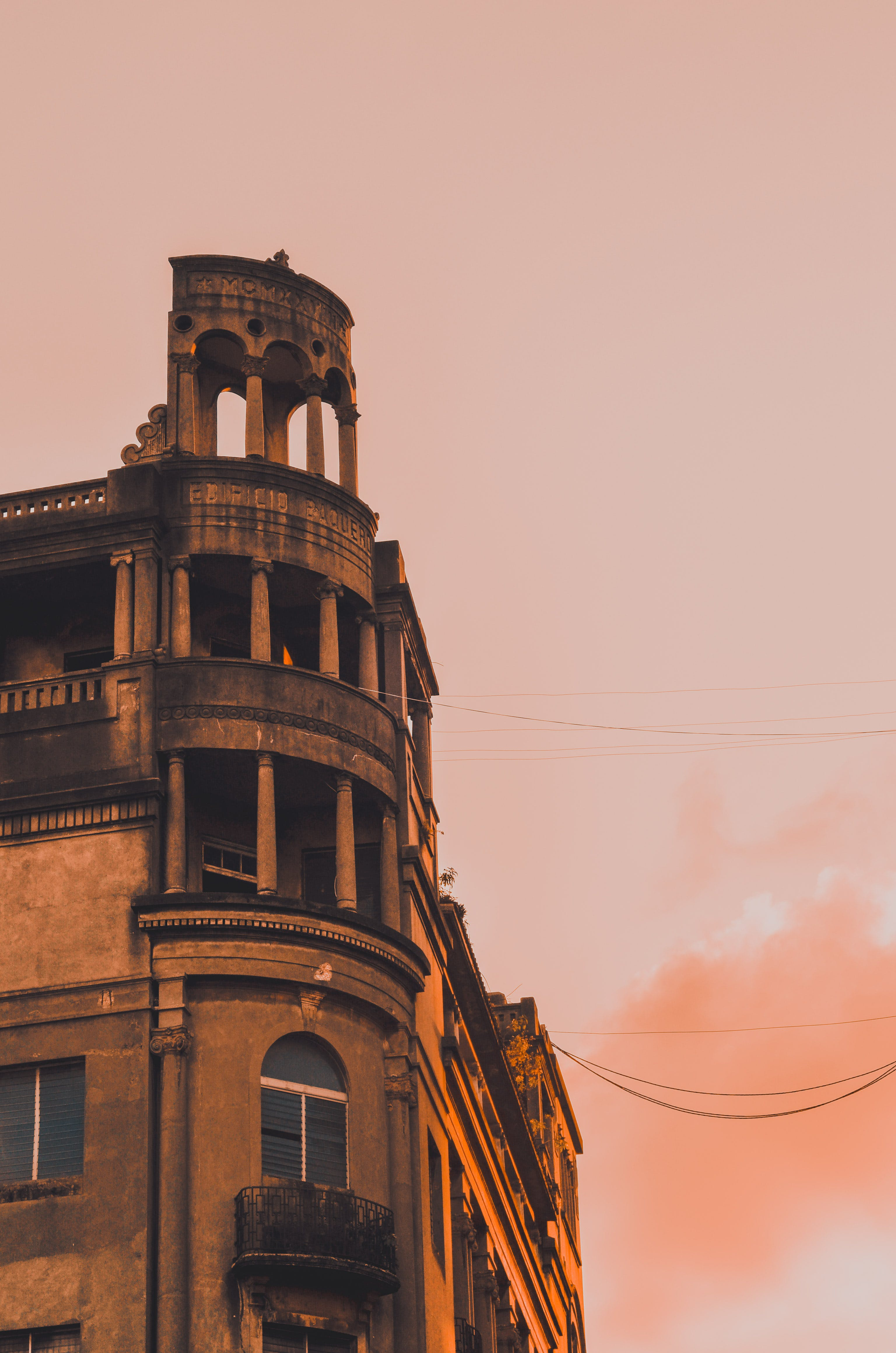 Low Angle Photograph of Building during Golden Hour