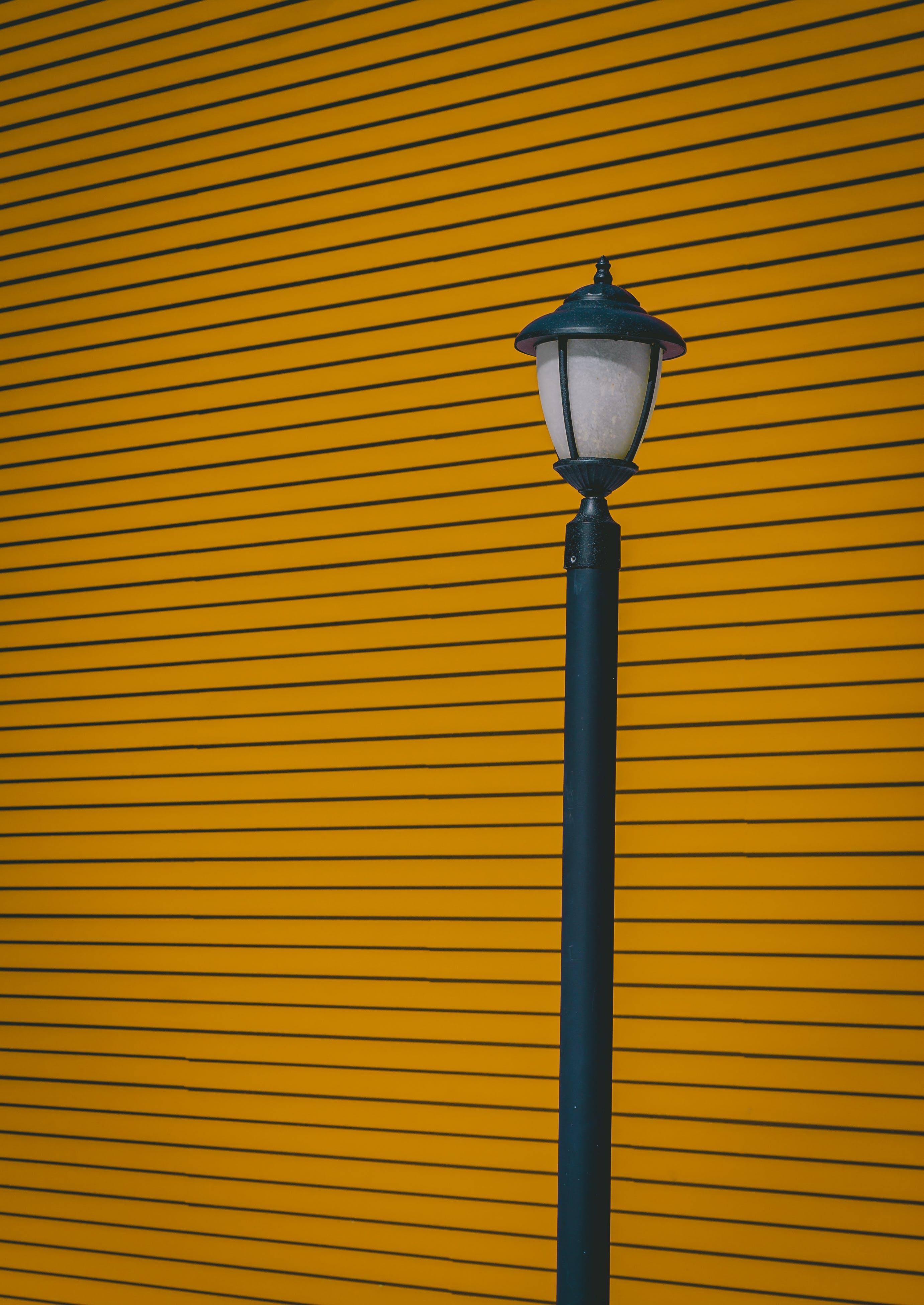 Black Post Lamp